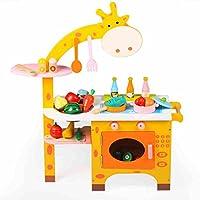 Meiduo Toys Kids Toysシミュレーションキッチン料理木製セット3–5歳の誕生日プレゼント