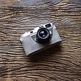 cam-in (カムイン) カメラケース ライカ Leica M6 , M7 , MP , M2 , M3 , M4用 イタリアンレザー (CA034シリーズ, シルバーグレー)