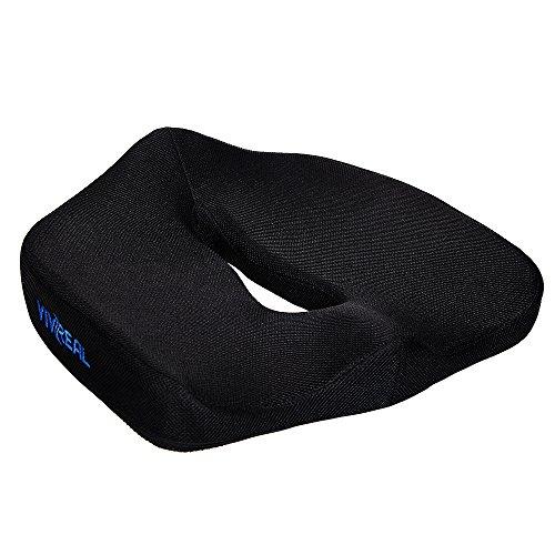 座布団クッション ヘルスケア 事務用 座布団 低反発 腰痛対策 椅子 オフィス用 男女兼用 ブラック