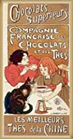 ポスター テオフィル アレクサンドル スタンラン Chocolat 額装品 ウッドベーシックフレーム(ナチュラル)