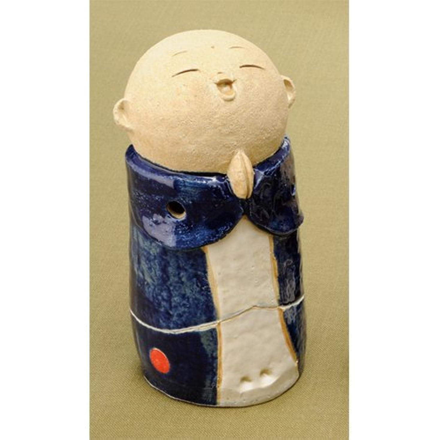 お地蔵様 香炉シリーズ 青 お地蔵様 香炉 5.3寸(大) [H16cm] HANDMADE プレゼント ギフト 和食器 かわいい インテリア