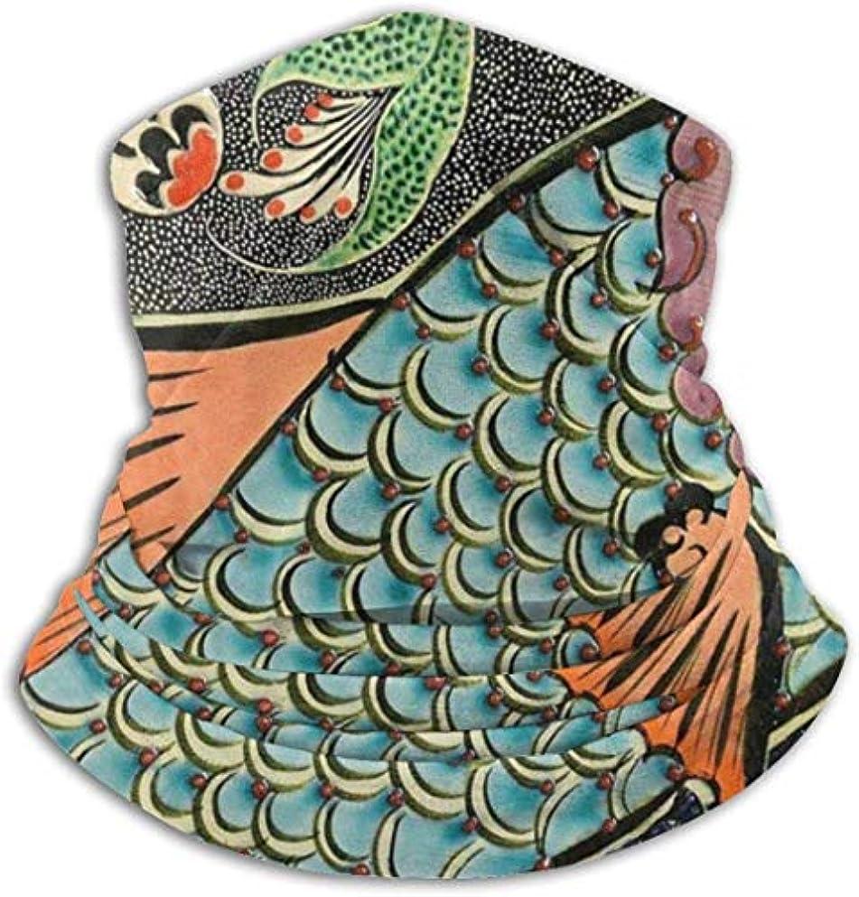 医薬ロボット苦しみ魚花柄 ネック暖かいスカーフ サーマルネックスカーフ マイクロファイバーネックウォーマー ネックウォーマー マフラー 帽子 ヘッドバンド 秋冬 防寒 防風 キャップ 多機能 ネック ゲーター 男女兼用