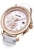 Comtex 腕時計 カレンダー アナログ クォーツ ウオッチ レディース ホワイト