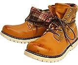(リベルト エドウィン) LIBERTO EDWIN ワークブーツ レイン トレッキング シューズ ブーツ 2WAY 折り返し 防水 防寒 メンズ 靴 26.5cm Camel キャメル