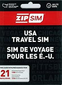ZIP SIM 通話+SMS+データ通信1.5GB、21日間 アメリカ用プリペイドSIM (※旧名称 READY SIM 2016年4月より商品名・パッケージが変更となりました)