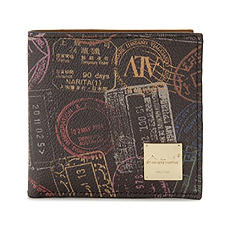 エーエルブイ 二つ折り財布 短財布 パスポートライン WB5023-41-602 モカ?ブラウン [並行輸入品]