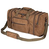 Plambag Canvas Duffle Bag for Travel, Duffel Overnight Weekend Bag