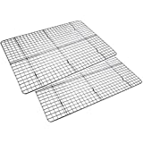 Checkered Chef Cooling Racks for Baking 17 x 11.75inch - Baking Rack Twin Set. Stainless Steel Oven and Dishwasher Safe Wire