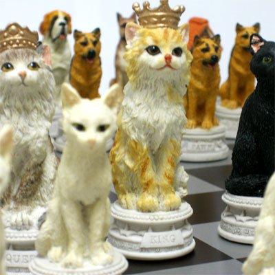 Wise Unicorn『犬猫のチェスセット』
