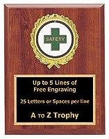 安全Plaque Awards 6x 8Wood従業員Worker TrophiesビジネスTrophy Free Engraving