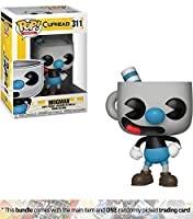 Funko Mugman POP! Games x Cuphead Figure + 1 Video Games Themed Trading Card Bundle [#311]