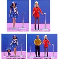 人形Stand forバービーand人形11.5 to 12.5インチTallメタル