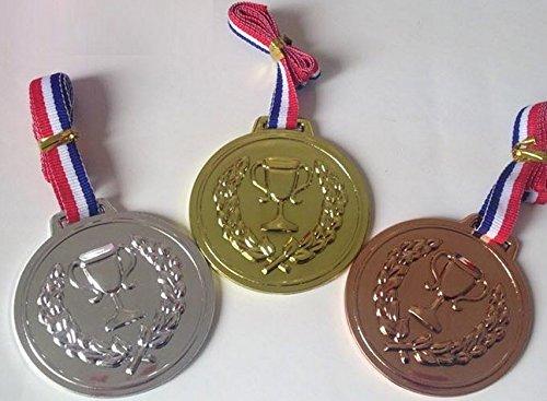メダル セット 金メダル 銀メダル 銅メダル 各一個 6回分セット 合計18メダル ご褒美 お遊戯 運動会 幼稚園 に