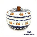 [Zaklady Ceramiczne Boleslawiec/ザクワディ ボレスワヴィエツ陶器]リンゴのポット12.5cm-479 ポーリッシュポタリー