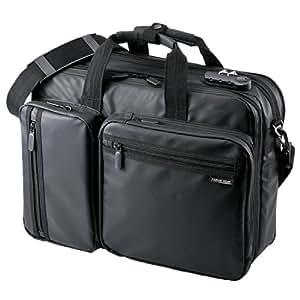 サンワダイレクト 3WAYビジネスバッグ 耐水素材 通勤 出張 対応 15.6型対応 PCバッグ 200-BAG048WP