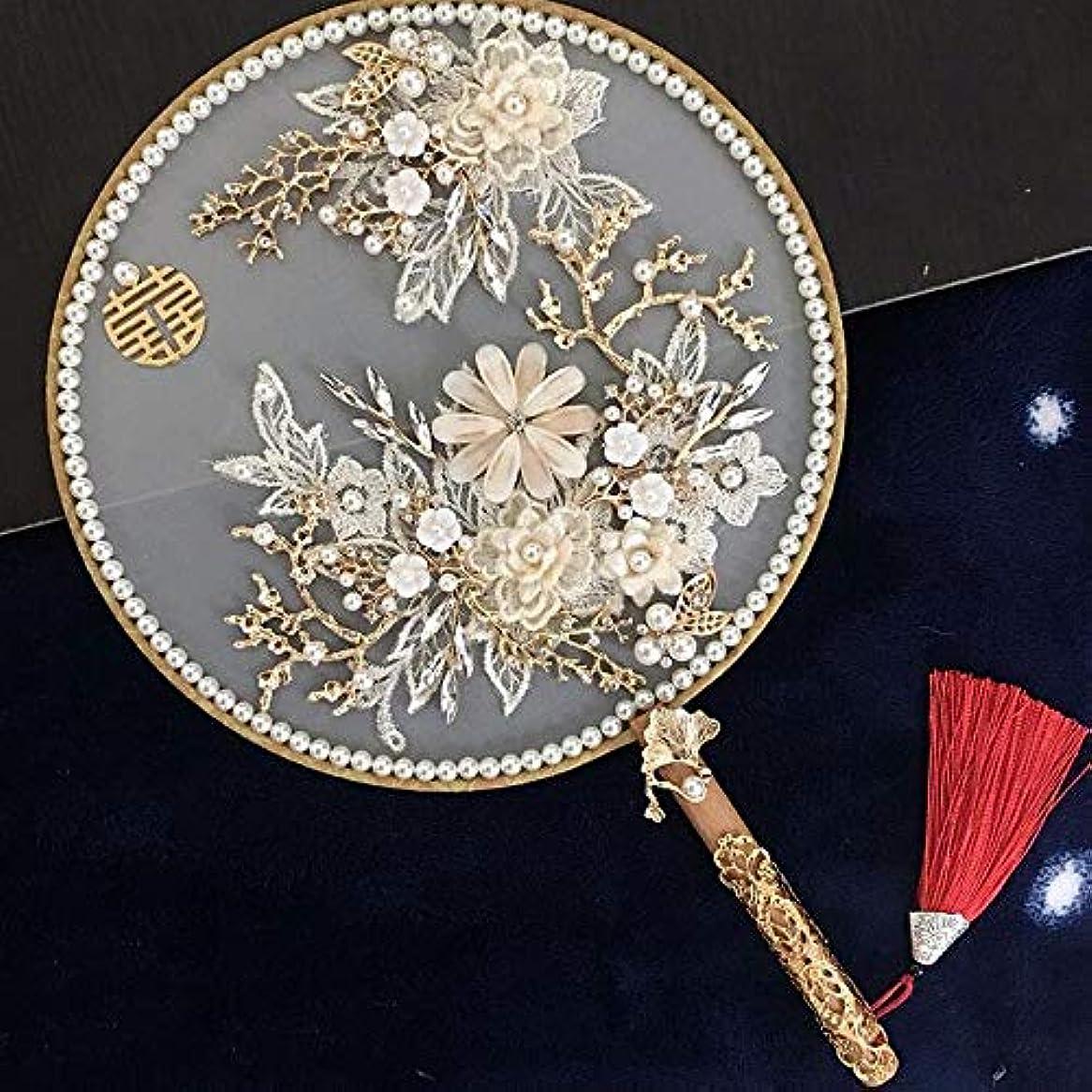 過度のモールス信号トーナメントQIANZICAI 扇子、中国風の絹のうちわ、ダンス写真の小道具、ホームアクセサリー、コレクション、サイズ21CM * 35.5CM 滑らかな感触 (Color : Gold-C)