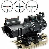 TA31タイプ 4倍率スコープ サイドレール付き 3カラーレティクル発光 (ブラック)