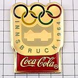 限定 レア ピンバッジ インスブルック五輪1964年コカコーラ ピンズ フランス