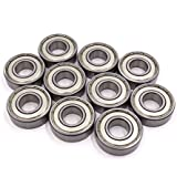 uxcell 10 Pcs 6203Z 17 x 40 x 12mm Double Shielded Deep Groove Radial Ball Bearing
