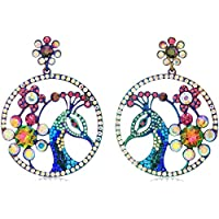 Betsey Johnson Critters Colorful Peacock Drop Earrings, Multi, One Size