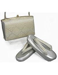 草履バッグセット 礼装用 帯地金銀28-8 Mサイズ草履 小判型草履