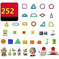 マグネット 磁石 磁気おもちゃ 252件 知育玩具 想像力と創造力を育てる 男の子 女の子 子供おもちゃ磁石ブロック キッズ 誕生日 クリスマス 新年 プレゼント DIY 積み木