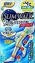 スリムウォーク (SLIM WALK) クールおやすみ美脚 スーパーロング ライトブルー M~Lサイズ(Cool,Compression Open-toe Socks for Night, Super long type,ML) 着圧 ソックス