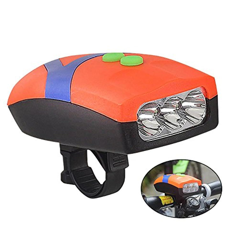 自転車テールライト自転車ベル 2in1機能 Aolvo LEDライト 自転車ライト ヘッドライト大音量ベル付き 簡単取り付け 三つ超高輝度LED 自転車フロントライト小型 軽量 高発光