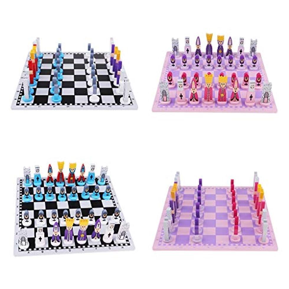 能力粒音楽家F Fityle 2セット 木製 国際チェス チェスボード チェスピース ボードゲーム