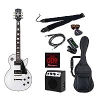 PhotoGenic エレキギター 初心者入門ライトセット レスポールカスタムタイプ LP-300/WH ホワイト