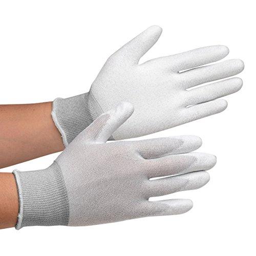 静電気拡散性手袋 MCGー800 手のひらコーティング L 10双/袋 1袋 10双