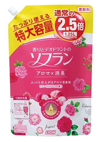 香りとデオドラントのソフラン フローラルアロマの香り 詰替用特大 1.25L