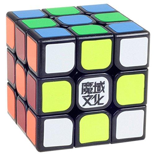 MoYu AOLONG ブラック3x3x3のバージョンスピードパズルキューブ 黒三階のルービック・キューブ玩具 (黑)