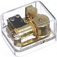 透明 アクリル オルゴール 巻き上げ 時計仕掛け 音楽ボックス 結婚式 誕生日 贈り物 メロディ ユア マイ サンシャイン ゴールド