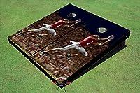 フローティングポン ハンドメイド コーンホールボード 200以上のデザイン 2x4 規定サイズ (24インチ x 48インチ) 木製 米国製 7. Corn Filled Bags + Case + Lights