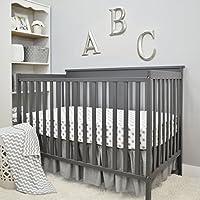 American Baby Company 3 Piece Crib Bedding Set, Gray, 28 x 52 by American Baby Company