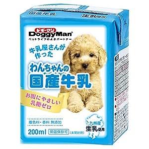ドギーマン わんちゃんの国産牛乳 全犬種用 200ml×24個入り 【ケース販売】