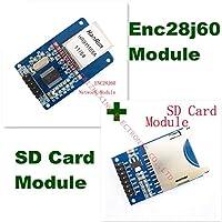 ENC28J60イーサネットLANネットワークモジュールの概略図51 AVR LPC + SDカードモジュールスロットソケットリーダーARM MCU