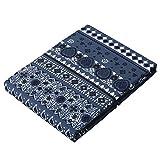 東京西川 掛け布団カバー シングル 北欧柄(バンダナ) SEVENDAYS ブルー PI07000598B