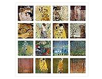 "Alonlineアート–Treesキス花ファンコラージュ16Gustav Klimtキャンバスの印刷( 100%コットン、フレームなしunmounted ) 28""x28"" - 71x71cm VM-KLM144-STK0F00-1P1A-28-28"