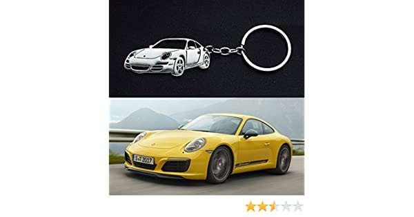 HaoYouMi Stainless Steel Automotive Body Styling 3D Custom Keychain for Porsche 911 964 993 996 997 991 986 987 981 GT1 GT2 GT3
