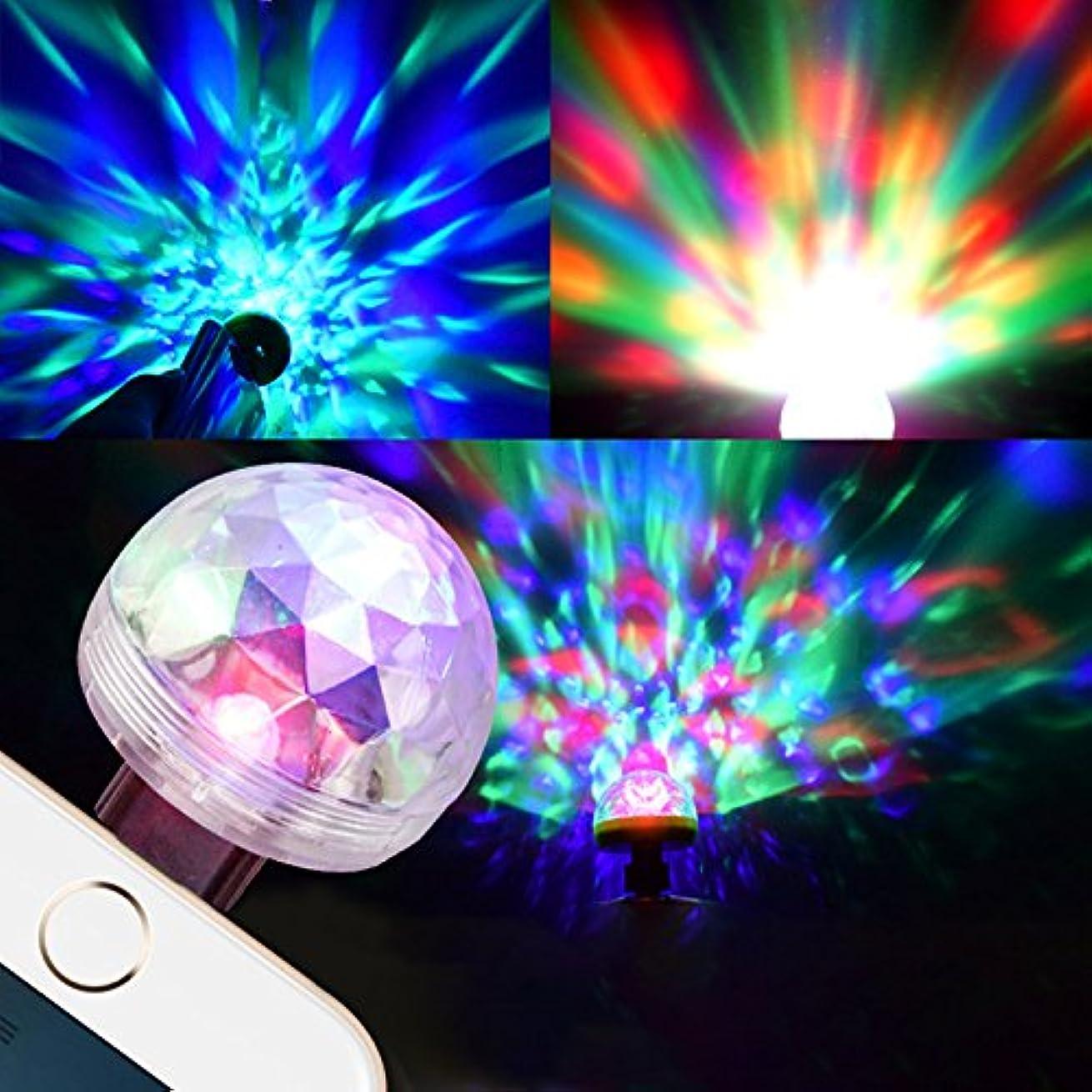 桁フォローダメージACHICOO ステージライト USB カラフル スマホ ボイスコントロール マジックボール ランプ ミニ ポータブル クリスタル 効果ライト パーティー·ディスコ·クラブ DJライトショー 車上 音声制御 デコレーション