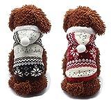 犬の服 暖かいふわふわ犬服 ノルディック コート/冬服 (XL, ブラウン)