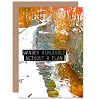 WANDER AIMLESSLY WITHOUT PLAN COLOURFUL PATH BLANK BIRTHDAY CARD