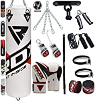 RDX 13Pieceボクシングセット4ft 5ft Unfilled Heavyパンチバッググローブ天井フックチェーントレーニングMMA Punching Bags