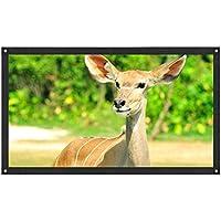 inverlee投影画面ポータブルファブリック折りたたみ式の3d HDホームシアター 62.6inchx35.4inch