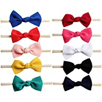 Toptim Baby Girl's Elastic Headbands and Bows for Newborn Infant Toddler Photographic Accessories