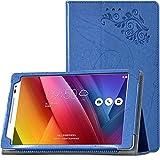 ASUS ZenPad 8 タブレット ケース PUレザー (ブルー)