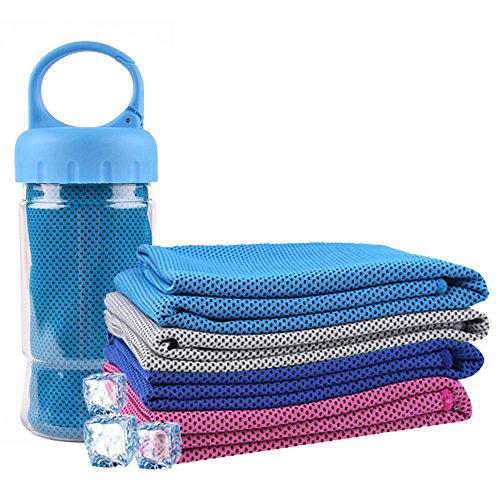 パラディニア(Paladineer)冷感タオル ひんやりタオル クールタオル 暑さ対策 熱中症対策 スポーツ アウトドア 汗や水分吸収 ブルー