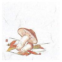 4寸 OP懐石敷紙 100枚入 松茸(8月~10月) [ 約12 x 12cm ] 【 懐紙 】 | 旅館 料亭 ホテル 宴会 懐石 和食 イベント 業務用